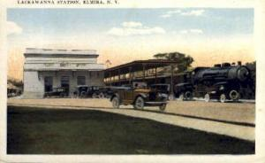 Lackawanna Station, Elmira, New York, NY, USA Railroad Train Depot Postcard P...