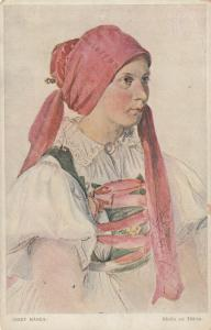 SILESIA , Austria, 00-10s ; Girl from Tesin County in Slovak Costume #2