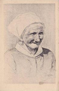 Older Lady Portrait, Tetes De Bretagne, France, 1900-1910s