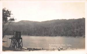 Lakeview-On-Bass Lake, Wishon, California, Early Real Photo Postcard, Unused