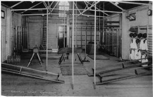 Gymnasium Ash-Eton School Interior Sport real photo Postcard