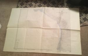 Vintage Nautical Map Chart: 21100 Punta Abreojos to Cabo San Lazaro 27th ed (#2)