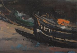 Art Postcard BOATS (detail) by Joan Eardley R.S.A (1921-1963) BY3