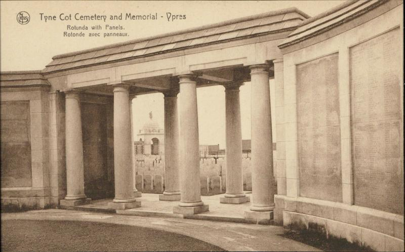 Ypres Tyne Cot Cemetery Memorial War Stone Rotunda with Panels