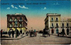 CPA Taranto Piazza Fontana Grandi Alberghi Dandolo ITALY (802776)