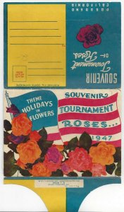 PASADENA, California, 1947; 16-View Folder, Souvenir Tournament of Roses