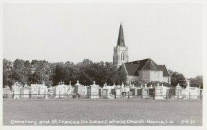 RP: HOUMA , Louisiana, 1930-40s ; Cemetery & Catholic Church