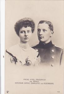 Prinz Eitnel Freidrich un Braut Herzogin Sophie Charlotte von Oldenburg, GERM...
