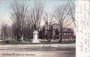 Soldier's Monument - Cortland NY, New York - pm 1906 - UDB