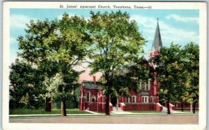 Texarkana, Texas Postcard St. James' Episcopal Church Building View c1940s