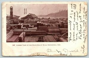 Springfield Oregon~Booth-Kelly Mills Lumber Yard~Saw Mill~1/4 Mile From Us~1906