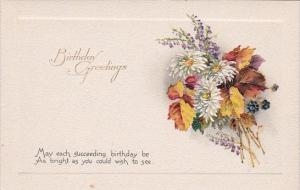 Birthday Wishes Bouquet Of Flowers Embossed