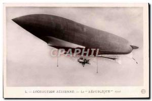 Old Postcard Aviation Zeppelin Airship the republic in 1908