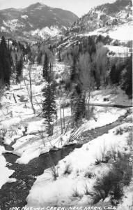 Aspen Colorado~Maroon Creek View in Winter~Wilderness Area~Pitkin County~RPPC