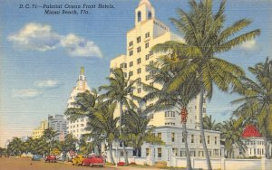 LP30    Miami Beach Florida Postcard Ocean Front Hotels