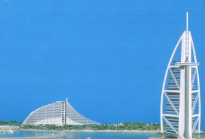 Dubai Chicago Beach Resort 1997 Opening United Arab Emirates Postcard