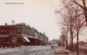 LPS77 Dodge City Kansas Front Street Town View Postcard