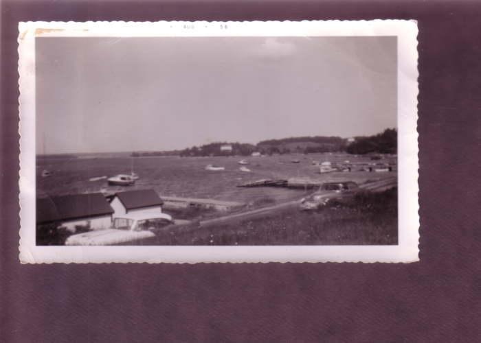 Vintage Photograph, 1956, Lakeside Cottages, Great 40's Cars
