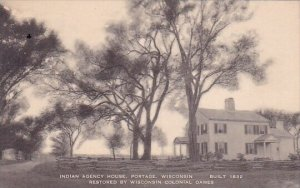 Built 1832 Restored By Wisconsin Colonial Dames Indian Agency House Portage W...
