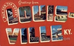 Louisville, Kentucky Large Letter Town Towns Post Cards Postcards  Louisville...