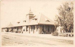 H83/ Boise Idaho RPPC Postcard c1910 O.S.L. Railroad Depot Station 184