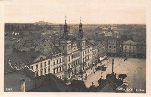 Czech Republic Pardubice Square Town Hall Panorama Postcard