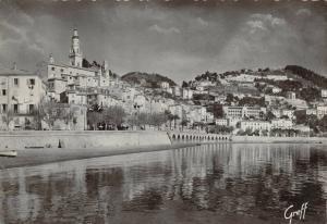 Vintage 1950 France Postcard, The Old Town, MENTON, La Cote D'Azur 33R