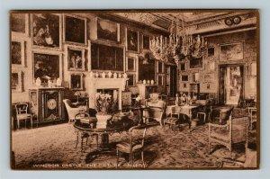 Windsor, UK-United Kingdom, Windsor Castle, The Picture Gallery Vintage Postcard
