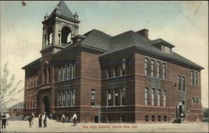 Santa Ana CA High School c1910 Postcard