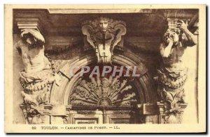 Old Postcard Caryatids Puget Toulon