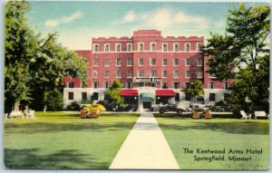 Springfield, Missouri Postcard KENTWOOD ARMS HOTEL Highway 66 Roadside Linen