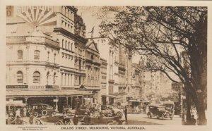 RP: MELBOURNE, Victoria, Australia, 1925; Collins Street, Store Fronts