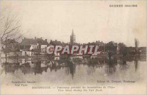 Old Postcard War of 1914 1916Rousbrugge Panorama during flooding of the Yser