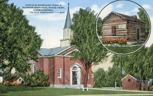 KY - Harrodsburg, Lincoln Marriage Temple, Pioneer Memorial State Park