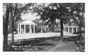 Warm Springs Georgia Hall Parking Entrance Real Photo Antique Postcard K10920