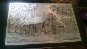 Branson MO~Shepherd of Hills Country~Old Matt's Cabin @ Night~1971 Silver Foil