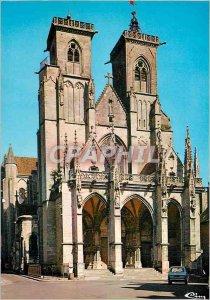 Modern Postcard Semur en Auxois (Cote d'Or) Notre Dame Church