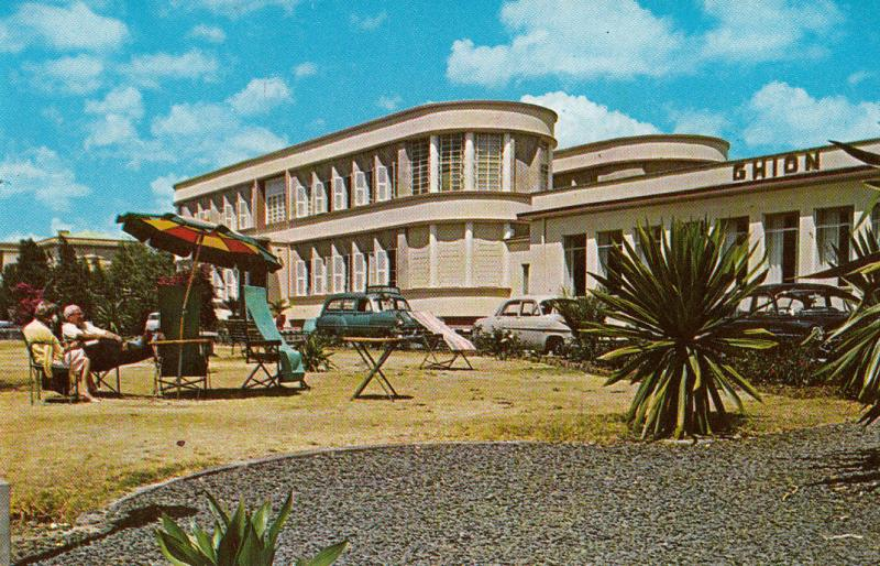 Ethiopia the Ghion Hotel 1963 postcard air mail postaly to Wien Austria