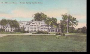 Maine Poland Spring Mansion House Handcolored Albertype
