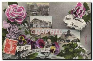 Paris 14 - XIV arrondissement A Good Year - Old Postcard