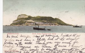 GIBRALTAR, PU-1907; Rock From Commercial Mole, Ships