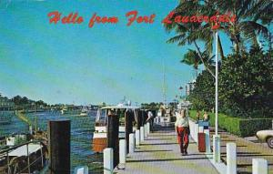 Florida Fort Louderdale Docks At Bahia Mar Marina Along The Inland Waterway 1979