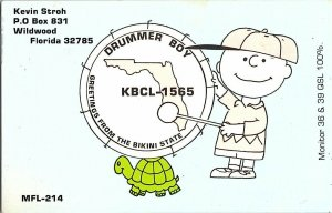 QSL Radio Card From Wildwood Florida KBCL-1565