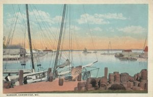 CAMBRIDGE , Maryland , 1910s ; Harbor