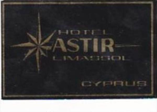 CYPRUS LIMASSOL HOTEL ASTIR VINTAGE LUGGAGE LABEL
