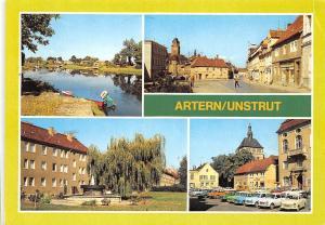Germany Artern Unstrut, Thomas Muentzer Strasse Markt Auto Vitnage Cars Fountain