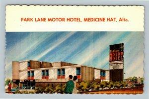 Medicine Hat AB, Park Lane Motor Hotel, Chrome Alberta Canada c1974 Postcard