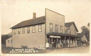 LP11  Phillips Creek New York Postcard  RPPC E. Royce Store