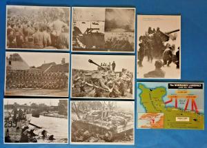 D-Day Landings Normandy WW2 World War 2 Postcard Collection of 8, June 1944