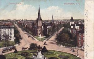 Thomas Circle Washington D C 1907